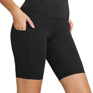 "Baleaf Women's 8"" / 5"" High Waist Workout Yoga Running Compression Shorts Tummy Control Side Pockets 15 Fashion Online Shop 🆓 Gifts for her Gifts for him womens full figure"