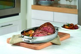 Viking-3-Ply-Stainless-Steel-Oval-Roaster-with-Metal-Induction-Lid-and-Rack-85-Quart