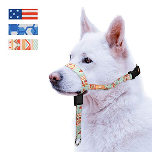 Colorful Dog Head Collar with 3 Beautiful Designs, Head Harness Stops Dog Pulling, Head Leash 1