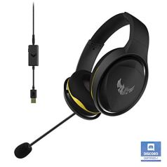 Asus TUF Gaming H5 with on-Board 7.1 Virtual Surround and Durable Stainless- Steel Headband Design for Excellent PC and PS4 Gaming Experiences.
