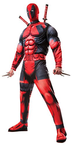 Rubie's Men's Marvel Universe Classic Muscle Chest Deadpool Costume, Multi-Colored, Standard