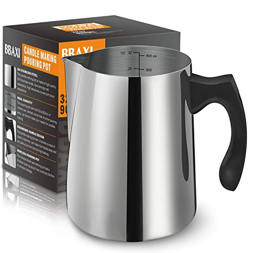 Candle Making Pouring Pot 32oz Double Boiler Wax Melting Pot 304 Stainless Steel Candle Making Pitcher With Heat Resistant Handle And Dripless Pouring Spout Design Pricepulse