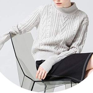 world-palm Turtleneck Winter Knitted Sweater Women Korean Long Sleeve Loose Ribbed Pullover