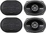(4) Hifonics ZS693 6x9' 1600 Watt Car Audio Coaxial Speakers
