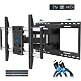 Mounting Dream Full Motion TV Mount with Sliding Design for TV Centering, Articulating TV Wall Mounts TV Bracket for 42-70 Inch TVs - Easy to Install on 16', 18' or 24' Studs - 19' Extension, MD2198