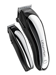 Wahl Lithium Ion Cordless Rechargeable Hair Clippers and Trimmers for men,Hair Cutting Kit with 10 Guide Combs by The Brand used by Professionals.   #79600-2101  Image