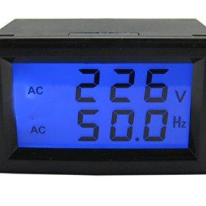 Yeeco LCD Digital Display AC 80-300V/45-65.0Hz Digital Voltage Meter Frequency Meter Tester Voltmeter Testing Guage Volt Monitor Panel AC Voltage Frequency Dual Display Meter