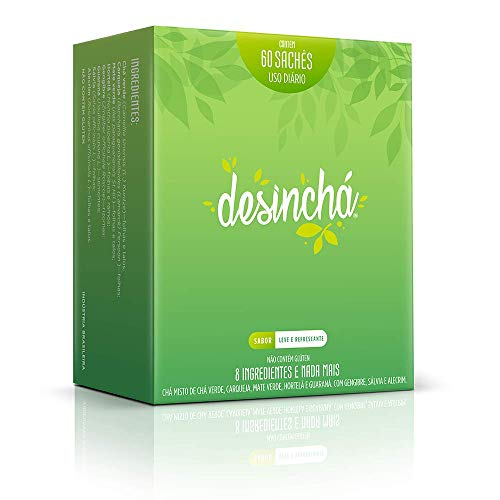 Desincha Tea - 60 Day Supply - 100% Healthy Weight Loss Tea - Reduce Bloating, Detox, Increase Metabolism - Made With Natural Ingredients - #1 Tea Brand in Brazil