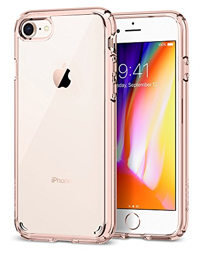 Spigen Ultra Hybrid [2nd Generation] Designed for Apple iPhone 7 Case (2016) / Designed for iPhone 8 Case (2017) - Rose Crystal