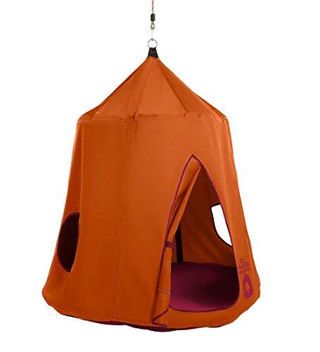 HearthSong Go! Hugglepod Hangout Portable Hanging Tree Tent - Terracotta