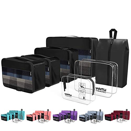 YAMIU Packing Cubes 7-Pcs Travel Organizer Accessories with Shoe Bag & 2...