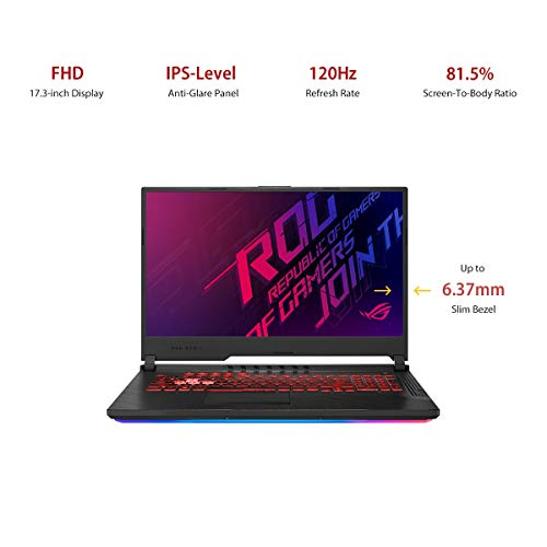 "ASUS ROG Strix G G731GT-H7158T 17.3"" FHD 120Hz Gaming Laptop GTX 1650 4GB Graphics (Core i7-9750H 9th Gen/16GB RAM/1TB NVMe SSD/Windows 10/One-Zone RGB KB/2.85 Kg), Black 3"