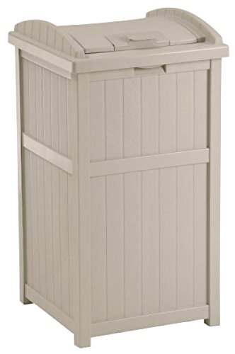Large Capacity 30 Gallon Outdoor Hideaway Vintage Trash Can Garbage Bin Waste Container Locking Lid