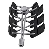 Shoelaces, UGY No Tie Shoelaces for All Adult and Kids Sneakers, Elastic Lock Shoe Laces Fits Hiking Boots, Board Shoes and Casual Shoes (Grey)