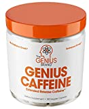 GENIUS CAFFEINE - Extended Release Microencapsulated Caffeine Pills, All Natural Non-Crash Sustained Energy & Focus Supplement -Preworkout & Nootropic Brain Booster For Men & Women,100 veggie capsules