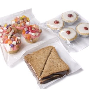 bag it Plastics Film Fronted Paper Bags Cakes Sweets 10″ x 10″ – Pack of 100 41biMoYBkFL