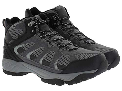Khombu Tyler Men's Leather Hiking Outdoor Tactical Boots -Black/Grey - Size 12