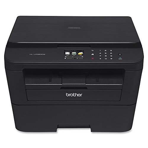 Brother Compact Monochrome Laser Printer, HLL2395DW, Flatbed Copy & Scan, Wireless Printing, NFC, Cloud-Based Printing & Scanning, Amazon Dash Replenishment Enabled