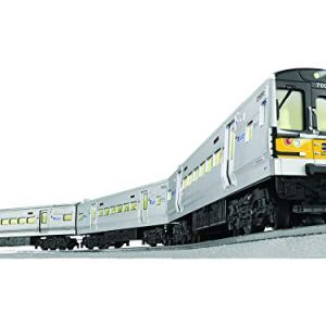 Lionel MTA Long Island Railroad M7 Electric O Gauge Model Train Set w/ Remote and Bluetooth Capability 41bmv99bvgL