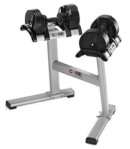 Core Fitness Adjustable Dumbbells & Stand By Affordable Dumbbells - Space Saver - Weights - Dumbbells For Your Home -