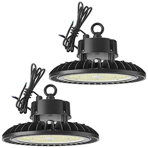 Sunco-Lighting-2-Pack-UFO-LED-High-Bay-150W-600W-HID-Replacement-21000-LM-5000K-Daylight-IP65-Waterproof-Commercial-Grade-Lighting-Hook-Mount-Warehouse-UL-DLC