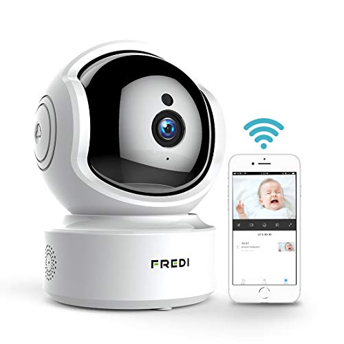 FREDI Baby Monitor 1080P Wireless Security Camera, WiFi Home Security Camera Surveillance HD IP Camera with Motion Detection,Two-Way Audio,Night Vision,Pan/Tilt,Cloud Storage,Micro SD Slot