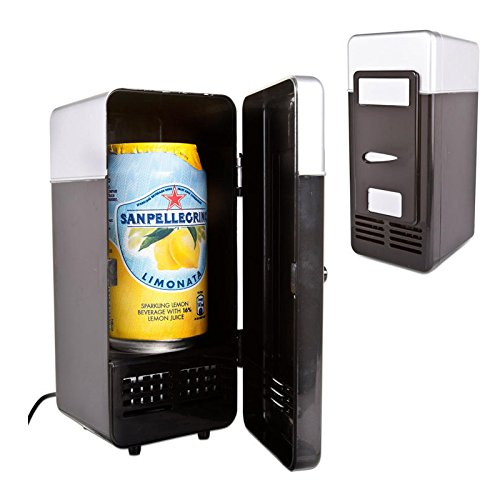 Zorvo Mini USB Fridge Cooler Beverage Drink Cans Cooler/Warmer Refrigerator Laptop PC Office Car Refrigerator