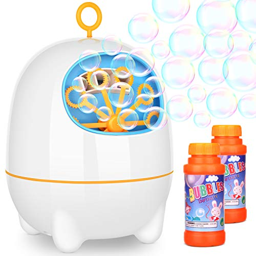 Bubble Machines BATTOP Electronic Bubble Maker Powered by USB Charging With Two Speed Settings for Kids Party