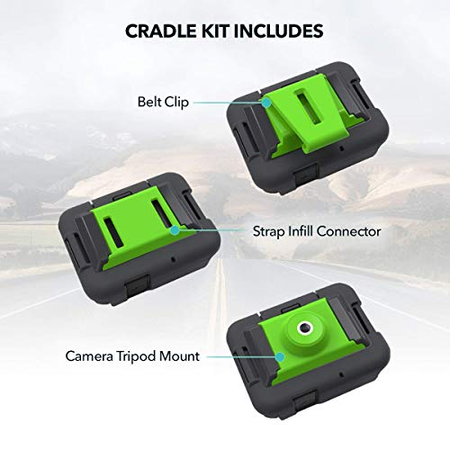 ZOLEO-Cradle-Kit-Accessory-Including-3-Inserts--Belt-Clip-Strap-Infill-Connector-and-Camera-Tripod-Mount