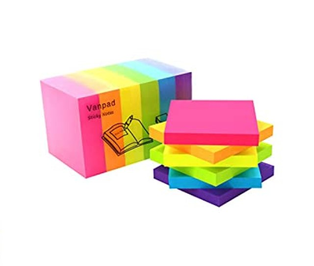 Amazon Com Sticky Notes X Sheets Pad  Pads Pack Bright Colors Self Stick Pads By Vanpad Office Products