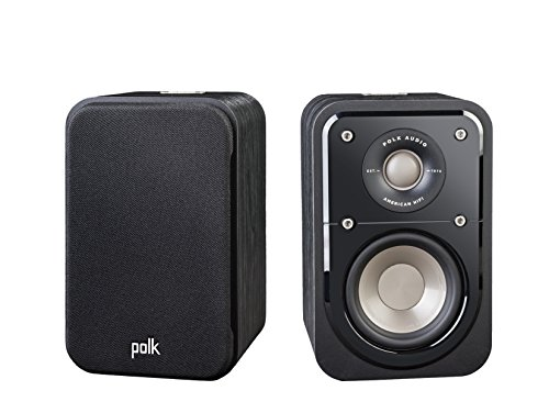 Polk Audio Signature Series S10 Bookshelf Speakers for Home Theater, Surround Sound and Premium Music   Powerport Technology   Detachable Magnetic Grille (Pair)