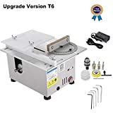 Upgrade Version Table Saw Mini Precision Table Saws DIY Wood Working Lathe Polisher Drilling Machine for DIY Handmade Wooden Model Crafts, Printed Circuit Board Cutting