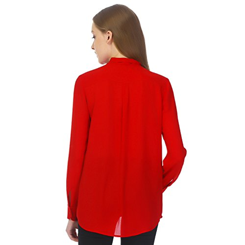 41cCKaTYePL An Amazon brand Demure long-sleeve top in stretch knit fabric and high banded neckline This understated top can be worn under a blazer for a polished look or paired simply with jeans for casual occasions.