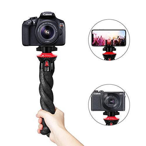 Flexible Tripod, Fotopro Camera Tripod with Phone Tripod Mount, Wrappable...