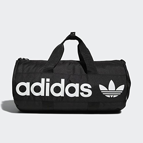 adidas Originals Paneled Roll Duffel Bag, Black, One Size 14 Fashion Online Shop gifts for her gifts for him womens full figure