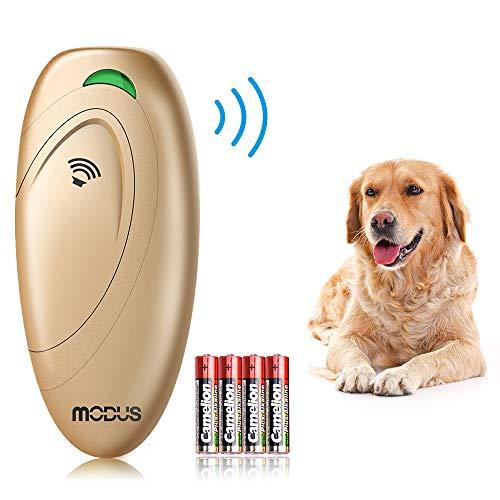 Modus Handheld Ultrasonic Bark Control Upgraded Version Ultrasonic Dog Barking Stopper Dog Trainer Dog Anti-Bark Control Gold 1