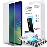 Galaxy S10 Plus Screen Protector, [Dome Glass] Full 3D Curved Edge Tempered Glass [Exclusive Solution for Ultrasonic Fingerprint] Easy Install Kit by Whitestone for Samsung Galaxy S10+ (2019) - 1 Pack