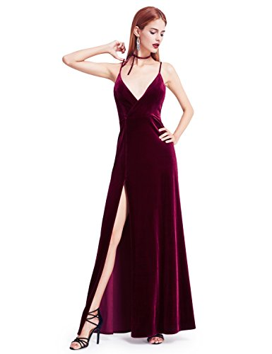 Detailed Size Info Please Check Our Size Chart Among Main Product Images, Not Size Info Link. It is US Size when you place order. Velvet Evening Dress with Thigh High Slit No lining. Padded in the bust