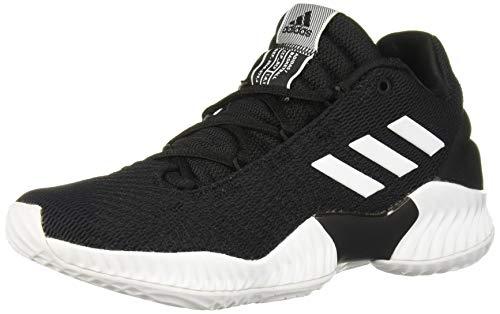 adidas Men's Pro Bounce 2018 Low Basketball Shoe, Black/White/Black, 10 M US