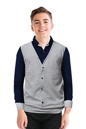 JUGULAR Boy's Waist Coat Style Color Block T-Shirt