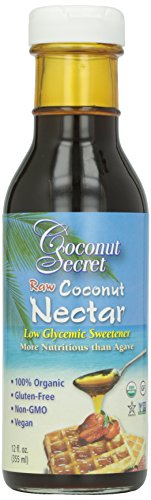 Coconut Secret Organic Raw Coconut Nectar Low Glycemic Sweetener - 12 oz