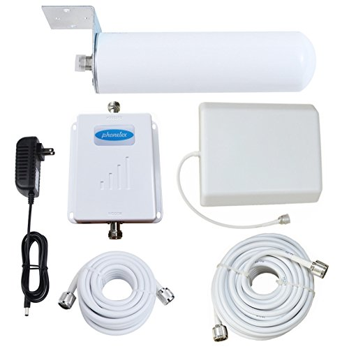 Phonelex Cell Phone Signal Booster 2G 3G 4G 850/1900MHz Dual Band AT&T Verizon Sprint U.S.Cellular Band2 Band5 High Gain Mobile Signal Amplifier Repeater with Omni-Directional/Panel Antenna for Home