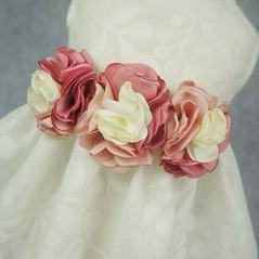 Fitwarm-Elegant-Rose-Lace-Pet-Dog-Weddding-Dresses-Bride-Clothes-Formal-Apparel