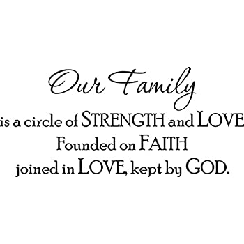 Download Amazon.com: A Circle Of Strength and Love Our Family Vinyl ...