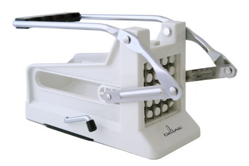 Culina French Fry Potato Cutter with Round Bottom for Easy Slicing, 2 Blades