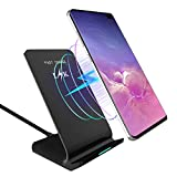 LK Wireless Charger, Qi Wireless Charging Pad Stand for iPhone 11 Pro Max/iPhone 11 Pro/11/XS Max/XS/XR/8/8 Plus, Galaxy S10/S10 Plus/S10e/Note 10/Note 10 Plus, All Qi-Enabled Devices (No AC Adapter)