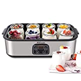 Yogurt Maker - MVPower Automatic Digital Yogurt Machine with 8 Glass Jars 48 Ozs