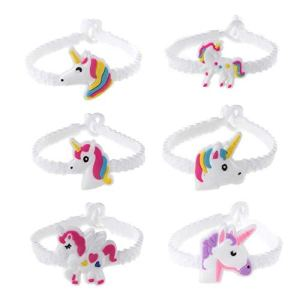 Gluckliy 24pcs PVC Rubber Unicorn Bracelets Wristband Party Favors Supplies for Kids Children Gift 41ccZwZHV L