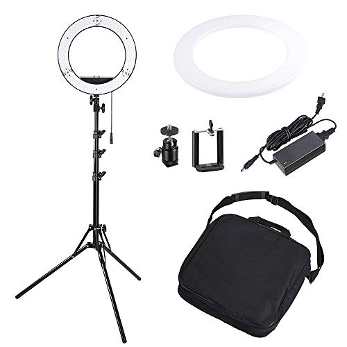 AW Professional Dimmable Ring Light Fluorescent Photo Video Studio Portrait Light 5500K