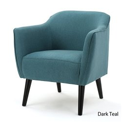 Christopher Knight Home 300033 Alphonse Fabric Arm Chair, Dark Teal